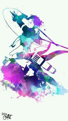 Attack On Titan - Anime Splash Art - Shingeki no Kyojin Ereri, Manga Anime, Anime Art, Otaku E Otome, Tokyo Ghoul, Splash Art, Attack On Titan Levi, Another Anime, Animation