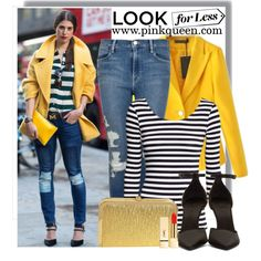Designer Clothes, Shoes & Bags for Women Yellow Coat, Casual Blazer, T Shirts For Women, Clothes For Women, Frame Denim, Polyvore Outfits, Get The Look, Burberry, Duster Coat