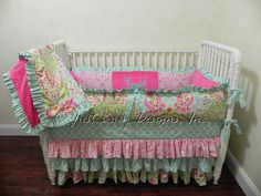 Baby Crib Bedding Set Syndal  Kumari Garden by BabyBeddingbyJBD, $389.00