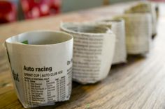Recycled Pots (made from newspaper) for Plants and Seedlings
