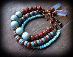 southwestern jewelry multi strand boho bracelet por anainc en Etsy