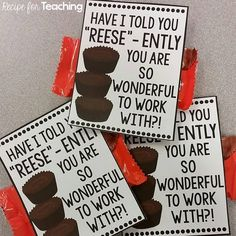 These Teacher Gift Tags are great to go along with Back to School gifts for your coworkers!  You can find the gift tags in my TpT store!