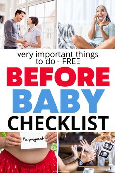 Get a before baby checklist to help you figure out the important things to do while pregnant so you can learn how to have a healthy pregnancy. First pregnancy tips here! First Time Pregnancy, Pregnancy Must Haves, Pregnancy Tips, Babies First Year, First Time Moms, All Family, Family Life, Gentle Parenting, Parenting Hacks