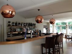 The Swan at Streatley - love the copper/rose gold shades