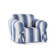 Classic Stripe Chair Slipcover