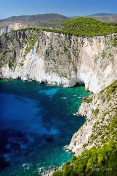 'Cliffs at Keri, Zakynthos, Greece' Poster by Giles Clare Zakynthos Greece, Vacations To Go, Historical Monuments, Destin Beach, Greek Islands, Nature Photography, Drone Photography, Trip Planning, Places To See