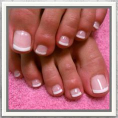 New Gel French Pedicure Toes Art Designs 50 Ideas French Toe Nails, French Manicure Toes, French Pedicure Designs, Toe Nail Designs, French Toes, French Tip Pedicure, Art Designs, French Polish, Nails Design