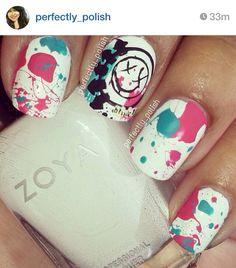 OMG... Blink 182 nails<3 <3 #ifreakinglovethese! #favoritebandever #ihavetogetthese