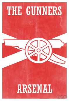 FootyWorks Vintage Arsenal poster xx quilt IDEA appliqué two color red white solids xx