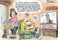 Iran Deal © Joe Heller,Green Bay Press-Gazette,iran deal, nuke, nuclear, senate hearings, kerry