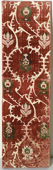 Piece Date: 15th century Culture: Italian Medium: Silk Accession Number: 1999.114.3a, b