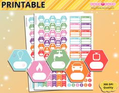 Payments tracker kit printable planner stickers - bill due pay day electricity gas car - Erin condren - Functional Organizing stickers  :::DOWNLOAD:::