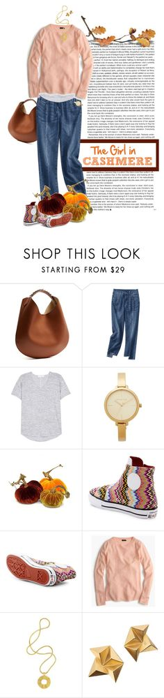 """""""Fall into Comfort: Cashmere Sweater"""" by dawn-scott ❤ liked on Polyvore featuring Givenchy, rag & bone, Michael Kors, Converse, J.Crew and Lara Bohinc"""