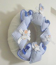 İndirimli Lavanta Kokulu Erkek Bebek Kapı Çelengi | Emeksensin | AqET