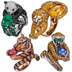 As the weather is heating up, the cocktails are cooling down. This season, keep the cocktails flowing and conversations going with these wild cocktail rings featuring curious critters whose sparkle...