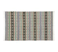Jute Chindi Stripe Rug, 3 x 5, Multicolor
