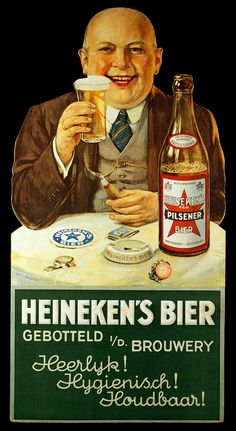 Check out these excellent retro Heineken adverts from across the decades Posters Vintage, Vintage Advertising Posters, Old Advertisements, Vintage Labels, Vintage Ads, Beer Poster, Poster Ads, Beer Advertisement, Sous Bock