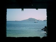 Photo taken from inside a hut on the short of Isla Grande, Panama (Photo by Patty Harris)