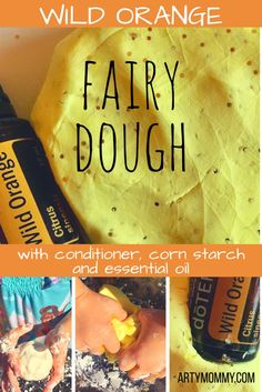Wild Orange Fairy Dough – ARTY MOMMY Make this easy fairy dough with your play dough loving kid. It's super soothing and couldn't be easier to craft. With just conditioner and corn starch, you've got yourself the fixings for a soft and silky dough. Add food coloring, glitter and essential oil to turn the dough into pixie dust and make this sensory concoction fit for fairies.
