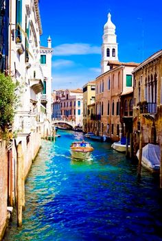Venice, Italy: While on your visit to Italy enjoy a motor boat ride.