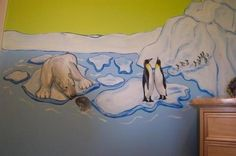 Arctic Animals Mural...would do in baby's room like the martha stewart one...arctic to tropical tho.