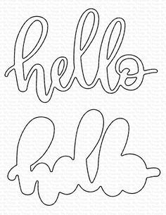 Little Hello, My Favorite Things Die-Namics Origami, Diy And Crafts, Paper Crafts, Happy Birthday, Mft Stamps, Birthday Games, Cricut Design, Cake Toppers, Hand Lettering