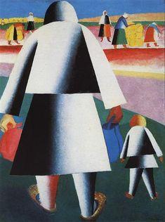 Marpha and Van'ka, 1929 - Kazimir Malevich