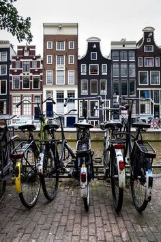 You fear getting run over by a bike, not a car. Amsterdam, Holland. Check out those buildings!