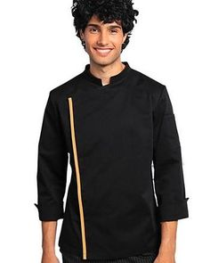Material: 65/35% polyester/cotton  Gender: Men  Type: Chef jacket  Care instructions:Wash at 30°c  Hidden press buttons  Pocket on theleft sleeve  Stand up collar  Horseshoe cuff  Slim design Professional Chef, Print Logo, Chef Jackets, Branding Design, Overalls, Gender, Buttons, Slim, Pocket