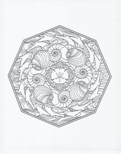 animal mandala - dolphin