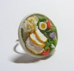 chicken salad scented or unscented - miniature food jewellery £12.99