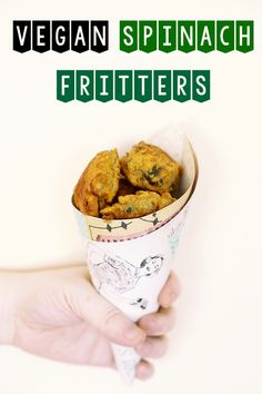 VEGAN SPINACH FRITTERS