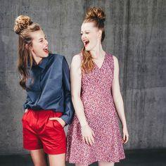 Die Zwei machen doch gute Laune, nicht wahr?  Die Schnittmuster für das Kleid No41 und die Shorts No37 von TRENDSCHNITT sind die perfekten Sommerbegleiter☀️! Trends, Couture, Shorts, Mode Design, Vintage, Mantel, Style, Instagram, Fashion