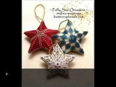 Puffy Star Beaded Ornament by Buttercupbeads.com - YouTube