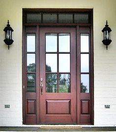 Craftsman Exterior Wood Entry Door DbyD-4004