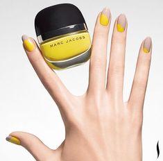 Trendy Nails Art Ideas Tips Nailart Nagellack Design, Nagellack Trends, Minimalist Nails, Minimalist Style, Spring Nail Trends, Spring Nails, Summer Nails, Marc Jacobs Nail Polish, Yellow Nail Art