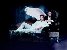 Wallpaper of Lucifer and Michael for fans of Supernatural.