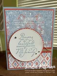 Stamp and Scrapper: August 2019 Play Day Project! Sympathy Gifts, Sympathy Cards, Play Day, Fun Fold Cards, Stamping Up Cards, Flower Cards, Scrapbook Cards, Homemade Cards, Making Ideas