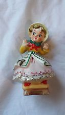 VINTAGE PORCELAIN CHINA CERAMIC FIGURINE OF YOUNG GIRL WITH BONNET AND BEE Vintage Ephemera, China Porcelain, Vintage Ceramic, Kitsch, Bee, Ceramics, Christmas Ornaments, Holiday Decor, Etsy