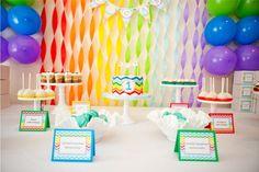 decoração festa infantil balões coloridos