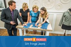 Add a bit of fringe to the end of your jeans for literally, ZERO dollars! For all things DIY, tune in to Home and Family weekdays at 10/9c on Hallmark Channel!