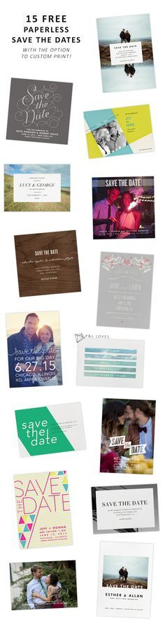 15 FREE Save the Dates from Paperless Post
