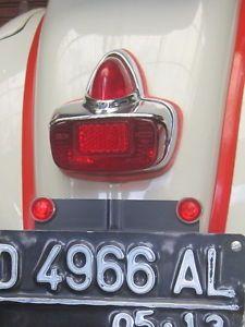4 VINTAGE CATEYE REFLECTOR LICENSE PLATE TOPPER MERCEDES BENZ VW VESPA LAMBRETTA