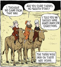 """Dave Coverly, the creative mind behind this one-panel comic strip, says Speed Bump depicts the """"movie of life. Cartoon Jokes, Funny Cartoons, Funny Comics, Funny Jokes, Funny Sayings, Hilarious, Christian Cartoons, Christian Jokes, Terrible Jokes"""