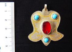 Turkmenischer Silberanhänger vintage Alter von neemaheTribal