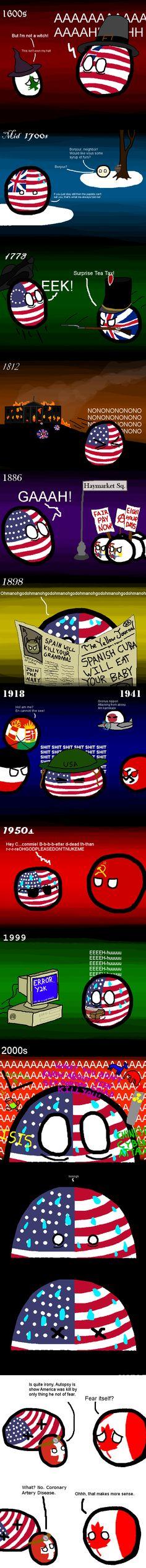 American Fears ( USA, Canada, Switzerland ) by Spacetime Inspector #polandball #countryball