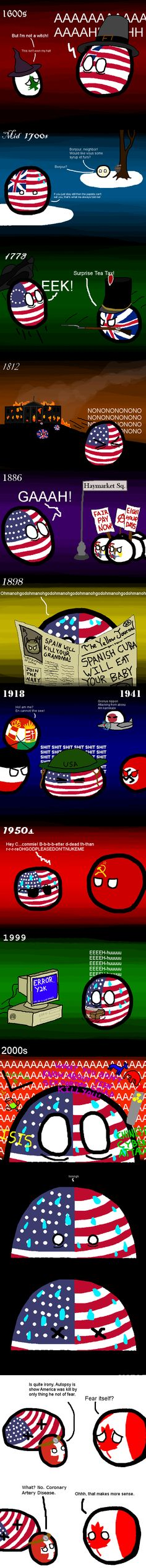 American Fears ( USA, Canada, Switzerland ) by Spacetime Inspector  #polandball #countryball