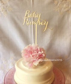 Baby Shower Cake Topper. Baby + baby's name.