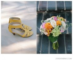 yellow wedding shoes.