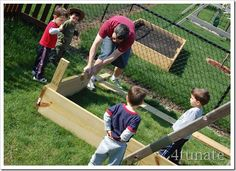 Building a Raised Bed Garden with Kids #gardening